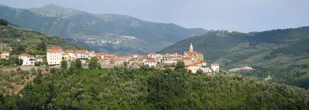 Aurigo. Ancient village in Liguria region of Italy royalty free stock image