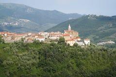 Aurigo. Ancient village in Liguria region of Italy stock photo