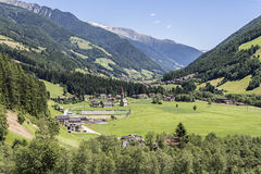The Aurina Valley in the alps Stock Image