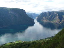 Aurland Photographie stock