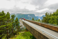 Aurland balcony. Tourist attraction in Norway Stock Photo
