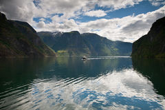 Aurland Fjord Royalty Free Stock Images