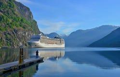 Aurland-Fjord bei Norwegen Stockfotos