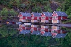 Aurland fjord at Norway. Royalty Free Stock Photos