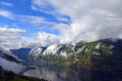 Aurland fjord Royalty Free Stock Image