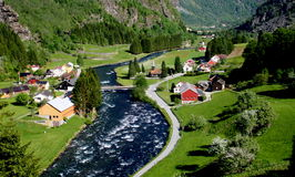 AURLAND - NORWEGEN Lizenzfreies Stockfoto