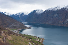 Aurland. Sogn of Fjordane, norway Stock Photography