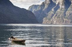 Aurland sognefjord in norway Royalty Free Stock Image