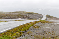 Aurlandsfjellet National Tourist Route in Norway Stock Photography