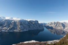 Aurlandsfjord Photo libre de droits