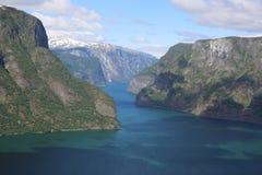 Aurlandsfjord Foto de archivo libre de regalías