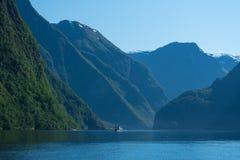Aurlandsfjord Norge Royaltyfria Foton