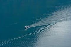 Aurlandsfjord, Norvège - 29 mai 2016, transfert du ferry Fjord1 Image libre de droits