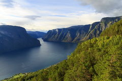 Aurlandsfjord, Norway Royalty Free Stock Photography