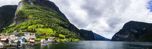 Aurlandsfjord in Norway Royalty Free Stock Photography