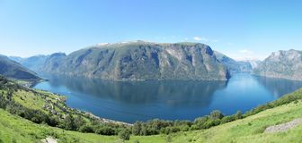 Aurlandsfjord, Norway Royalty Free Stock Photo