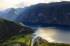 Aurlandsfjord, Norway Stock Images