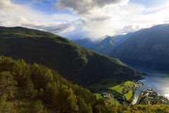 Aurlandsfjord, Norway Stock Photography