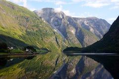 Aurlandsfjord imagen de archivo libre de regalías