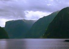 Aurlandsfjorden en Bergen, Noruega Foto de archivo libre de regalías