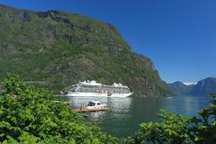 Aurlandsfjorden at Flam Royalty Free Stock Image