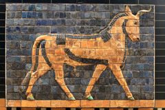 Auroch from the Ishtar Gate Stock Photos