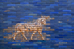 Aurochs from blue Ishtar Gate of Babylon Royalty Free Stock Photography