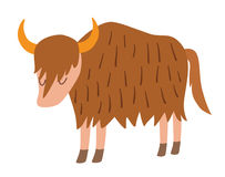 Aurochs. Flat cartoon vector illustration Royalty Free Stock Images
