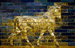 Aurochs of the Ishtar Gate Stock Photo