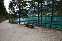 Auronzo,意大利湖  免版税图库摄影