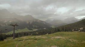Auronzo Di Cadore, Ιταλία 2018: Λίμνη βουνών Misurina Ανελκυστήρας βουνών
