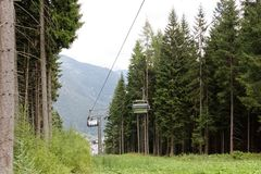 Auronzo Di Cadore, Italy: Mountain Lift In The Summer Royalty Free Stock Images