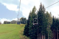 Auronzo Di Cadore, Italy: Mountain Lift In The Summer Royalty Free Stock Photography