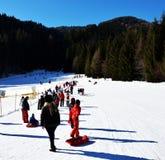 In Auronzo di Cadore, schöne Landschaft, Dolomiti-Berge, Italien Ski fahren stockbilder