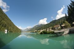 Auronzo Lake, Dolomites Royalty Free Stock Photography