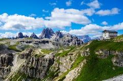 Auronzotoevluchtsoord, Dolomiet Stock Fotografie