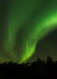 Aurora über Volda Stockfotografie