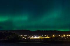 Aurora über Volda Lizenzfreies Stockbild