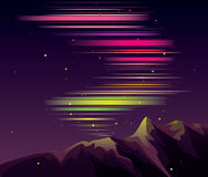 Aurora. Bitmap picture with additional vector file Stock Photo