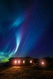 Aurora above your roof Royalty Free Stock Image