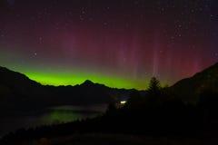 Aurora Australis in New Zealand, Queenstown. stock images