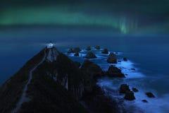 Aurora Australis przy bryłka punktem r zdjęcie stock