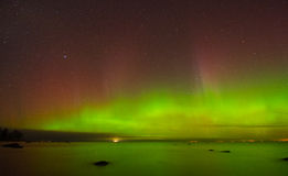 Aurora. The beauty of aurora borealis above the Gulf of Finland Royalty Free Stock Image