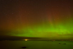 Aurora. The beauty of aurora borealis above the Gulf of Finland Royalty Free Stock Photography