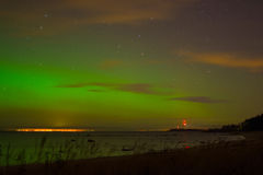 Aurora. The beauty of aurora borealis above the Gulf of Finland Stock Images