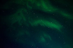 Aurora Behind the Big Dipper. Green aurora set against a northern star filled night sky Royalty Free Stock Photo