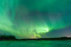 Aurora boreal imagem de stock