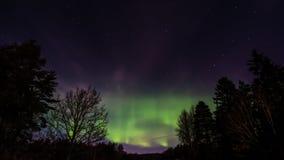 A aurora boreal Aurora Borealis Fotos de Stock