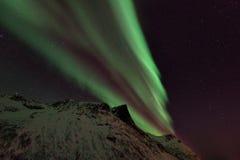 Aurora boreal Aurora Borealis Norway das ilhas de Lofoten Fotos de Stock