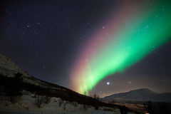 Aurora boreal colorida em Noruega Imagem de Stock Royalty Free